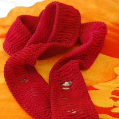 Red Light District Peekaboo Scarf | by knitgrrldotcom