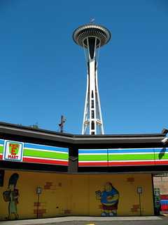 kwik e mart at the space needle | by leff