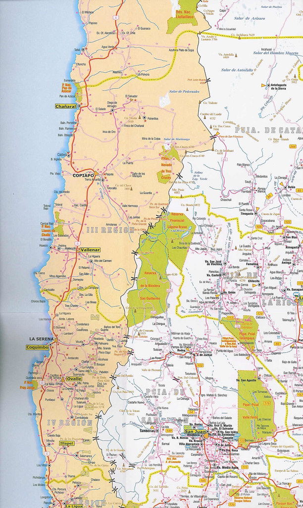 Mapa rutas argentinas y chilenas Argentina Chile road m Flickr