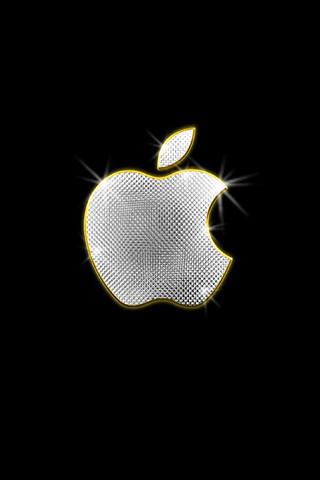 Apple bling iphone wallpaper blinged apple iphone for Die coolsten wallpaper