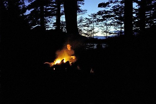 Bog River Campfire (c. 2004 film archives) | by Mountain Visions