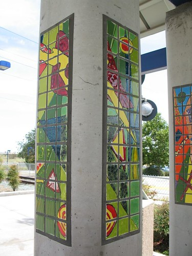 Power Inn light rail station art | by sporkwrapper