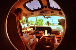 Fish eye in the van | by MAKSTER