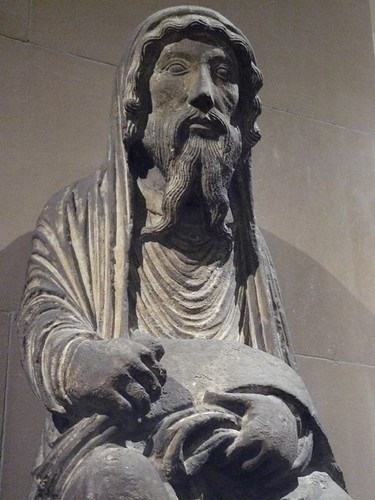Limestone Sculpture of the Old Testament Priest Aaron from the Cathedral of Noyon France carved about 1170 CE (1) | by mharrsch