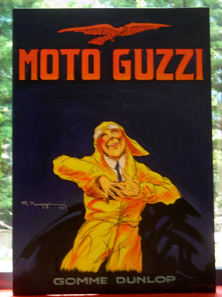 Old Moto Guzzi Poster | 'Moto d'Epoca' Exhibition, 2007.Augu… | Flickr