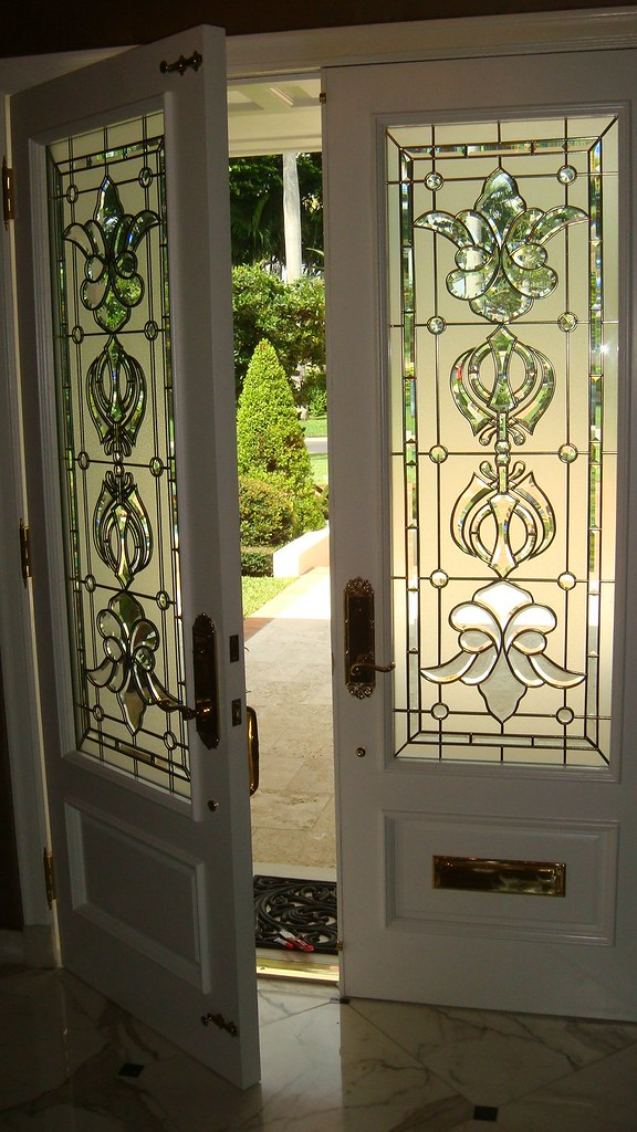Custom Art Glass Doors This Is A Recently Completed Projec Flickr