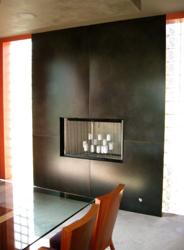 Blackened Steel Fireplace Surround For The Dining Room Flickr