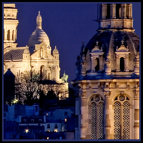 Rita Crane Photography:  night / architecture / lights / sculpture / Jeanne D'Arc at the Sacre Coeur, Paris | by Rita Crane Photography