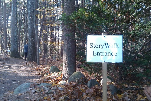Parmenter: story walk entrance