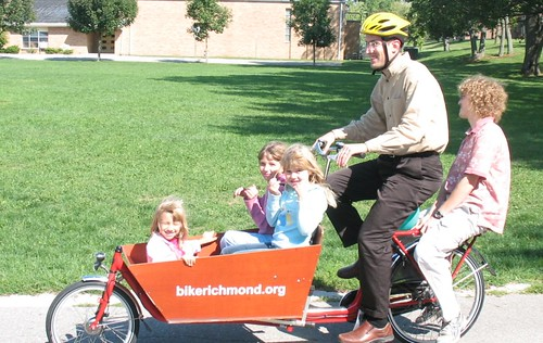 five people on a cargo bike | by Mark Stosberg