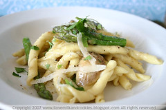 Three Cheese and Asparagus Umbricelli | by Acqua Bullicante