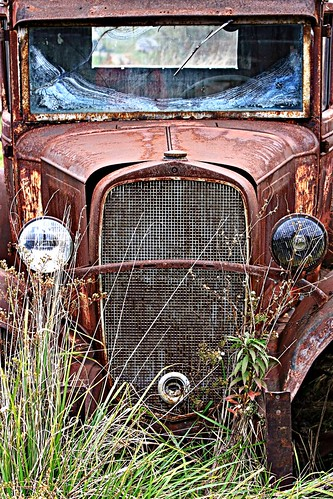 Rusting A 1932 Chevrolet Confederate Pick Up Truck Sits