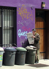 NYC: Man Reading Newspaper | by Professor Bop