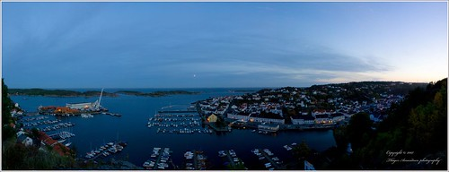 Risør in evening panorama | by Thøger