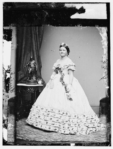 Mary Todd Lincoln in Inaugural Gown | by Presidential Inaugural Committee