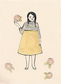 the tessa series - tessa holding a flower | by amanda blake art