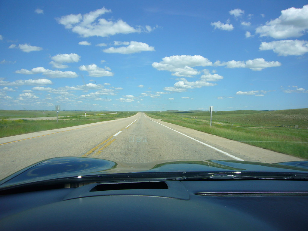 Wide Open Prairie Highway 1 In Saskatchewan