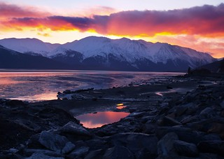 Setting sun over Alaska - on Explore - 444 | by Len Radin