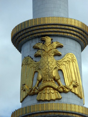 5 headed eagle symbol of Turkmenbashy | by Carpe Feline