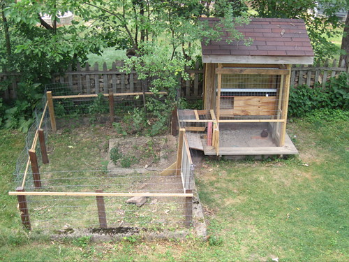 Aerial View Of Chicken Coop And Run This Is It It S