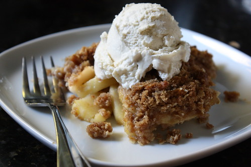 Apple Crisp with vanilla ice cream | by Completely Delicious