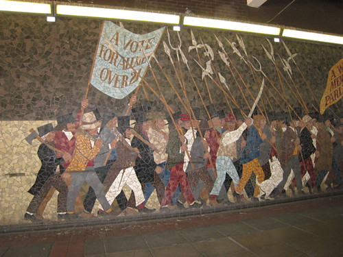Mosaic mural on the chartist uprising in newport newport for Chartist mural newport