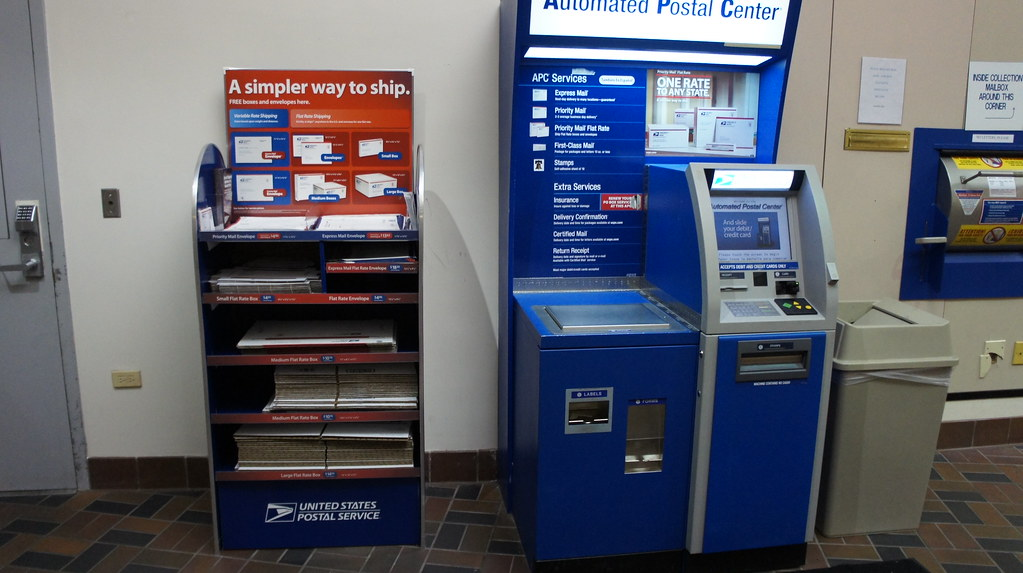 Postage Rate Chart: Automated Postal Center and new Priority Mail box display | Flickr,Chart