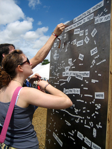 communal magnetic poetry wall | by Dani P.L.
