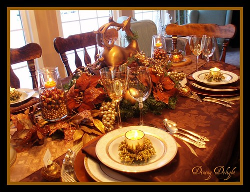 Christmas Tablescape I Created A Brown Bronze Copper