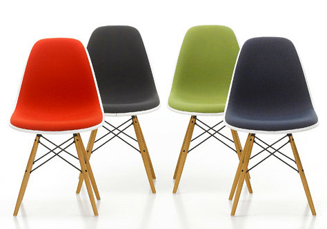 ... Vitra Eames Upholstered Plastic Chair | By UtilityDesign