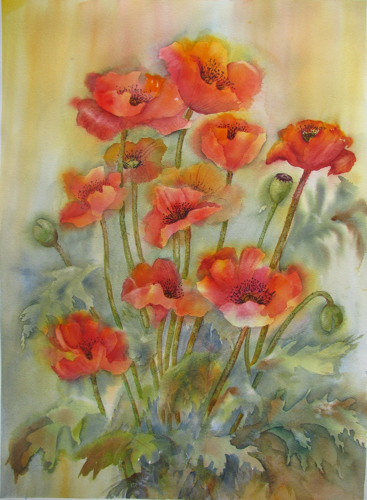 Greet the day with gladness watercolour on 140 lb arches flickr greet the day with gladness by bev morgan m4hsunfo