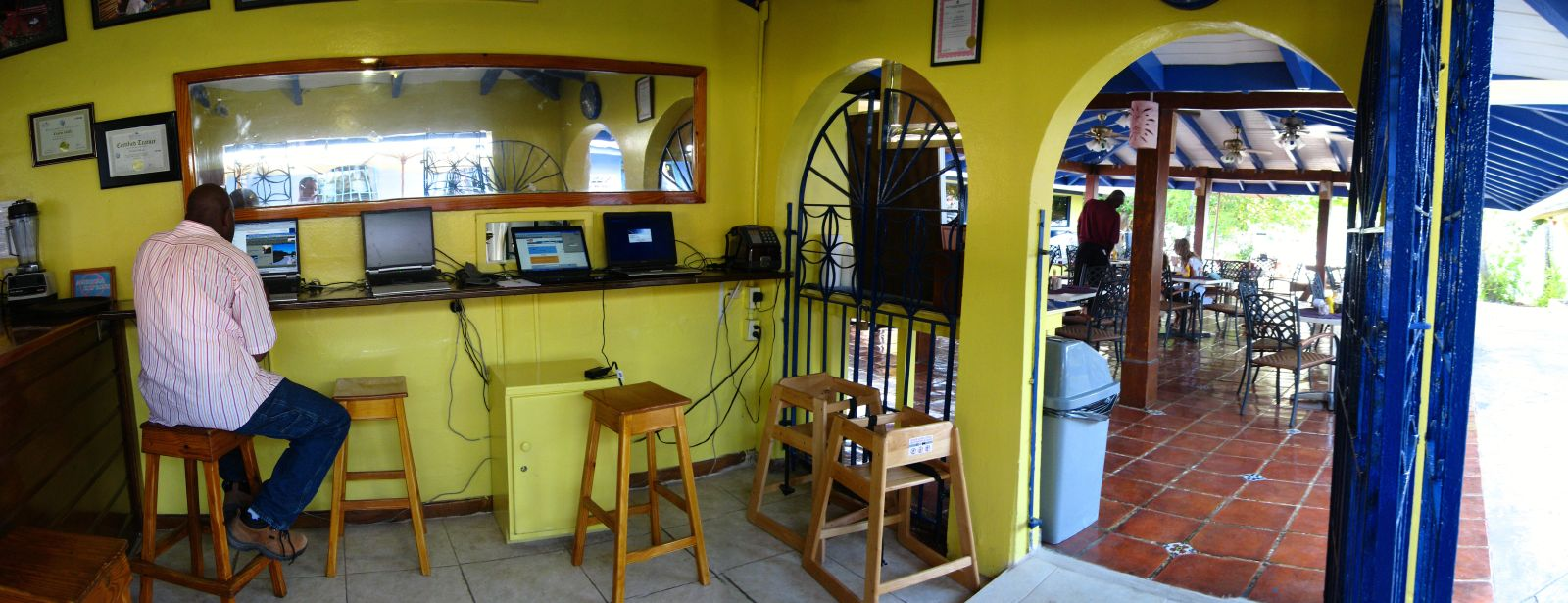 Internet cafe in Nanny Cay Marina, Tortola, British Virgin Islands