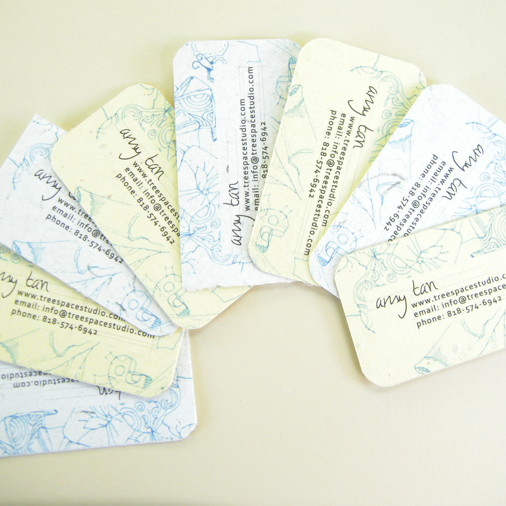 Hand Drawn Look Seeded Business Cards Amy Flickr