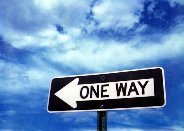 One Way. polaroid