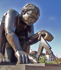 Newton (after  Blake), by Eduardo Paolozzi, British Library Piazza | by chrisjohnbeckett