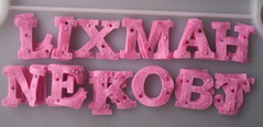 pink felt letters | by paper-and-string-on-flickr