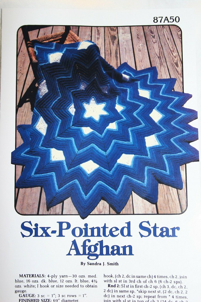 The Famed Six Point Star Afghan Pattern Annies Attic Mia Flickr