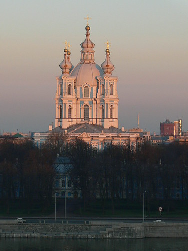 Smolny cathedral at dawn, St.Petersburg, Russia | by Lens_Flare