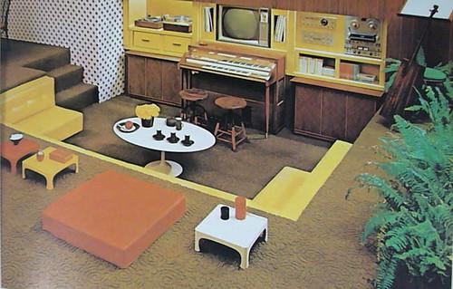 Sunken living room the practical encyclopedia of good for Sunken living room 70 s