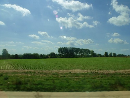 Belgian Countryside, on our way to Paris Nord Train Statio ...
