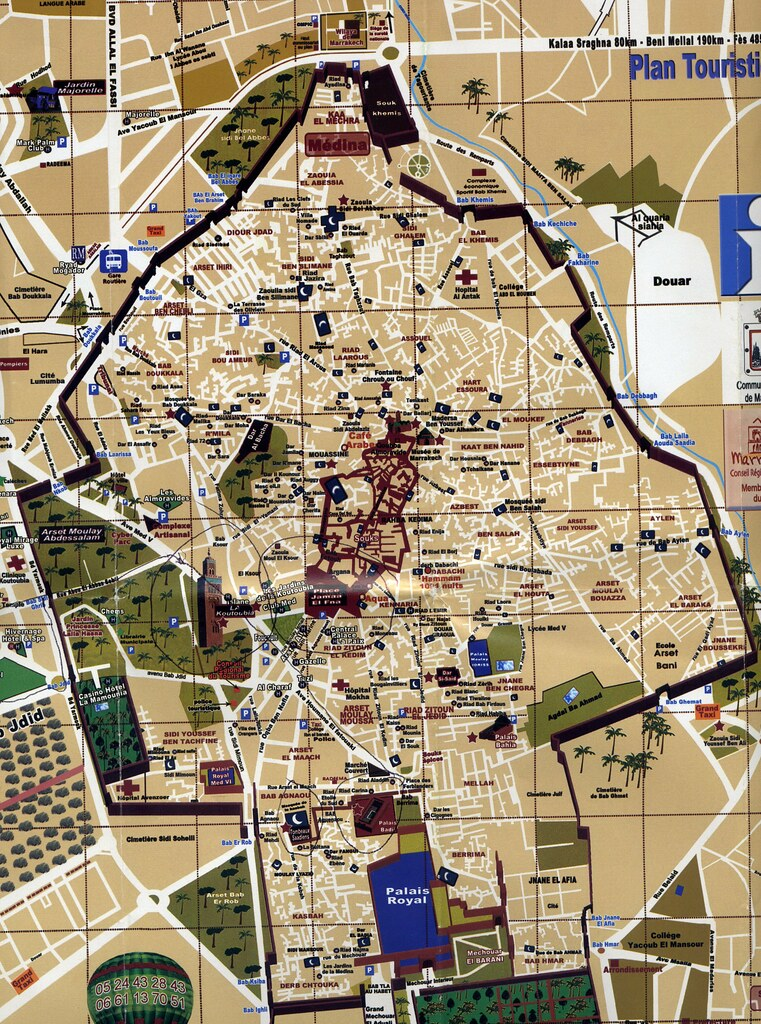 Map of the Medina in Marrakech Morocco Check out my photo Flickr