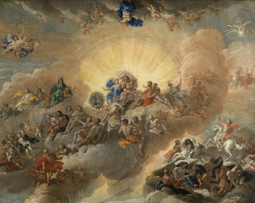 Oil Painting The Gods On Mount Olympus Sketch By Antoni