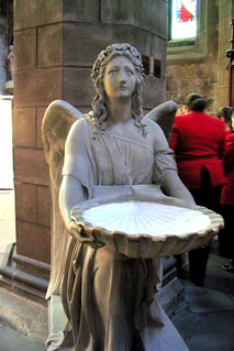 St. Giles - angel holding holy water | by rosewithoutathorn84