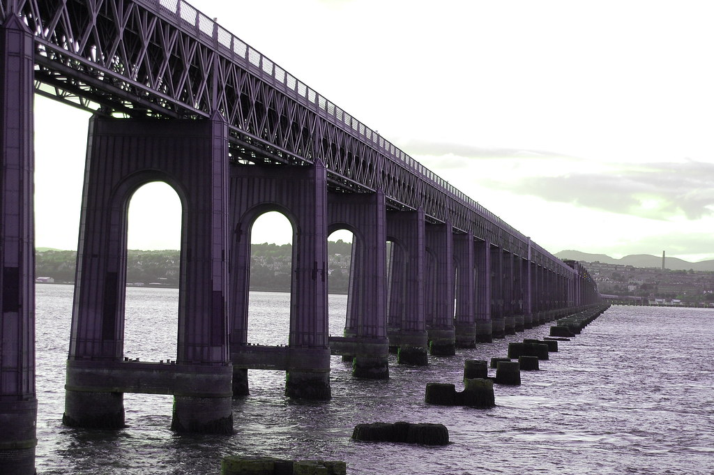 Tay Rail Bridge Looking To Dundee