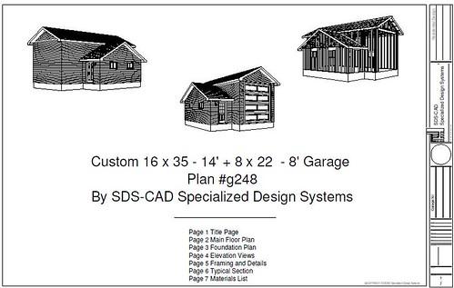 Download rv garage plans g248 16 x 35 x 8 x 22 14 rv ga for Garage plans free download