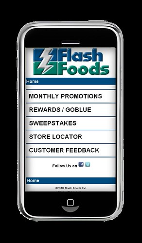 Flash Foods Mobile Website | by ITI Marketing, Inc.