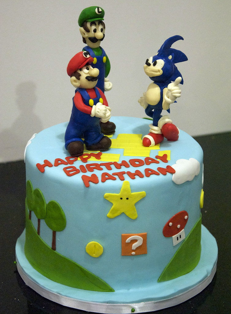 Bc4107 Super Mario Birthday Cake Bc4107 This 8 Round Flickr