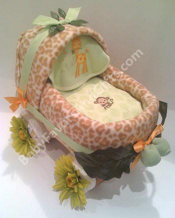 Safari Baby Carriage diaper cake Safari Baby Carriage diap Flickr