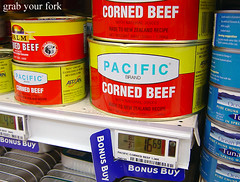 Electronic shelf prices and corned beef | by Helen (Grab Your Fork)