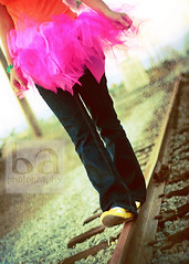 tutu meets railroad | by beth.armsheimer